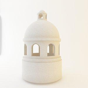 mexican cupula 3d model