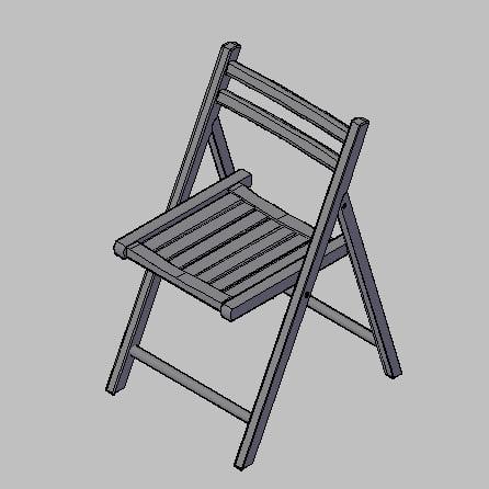 free chair living room 3d model