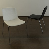 max contemporary leather chair modern
