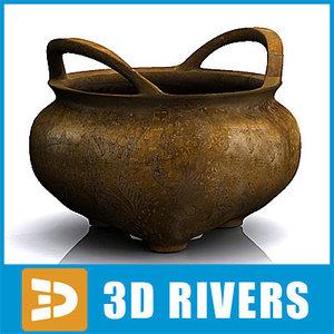 maya chinese bronze incised censer