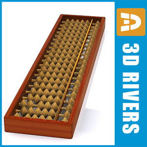 cninese counting frame 3d model