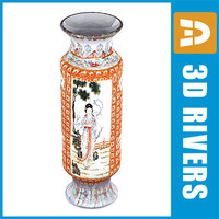 Chinese vase 04 by 3DRivers
