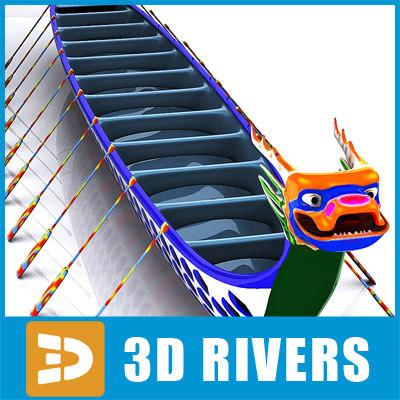 dragon canoe 3d model