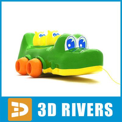 3d model crocodile toy