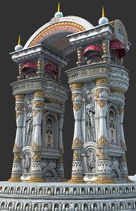euro arch landmark door 3d max