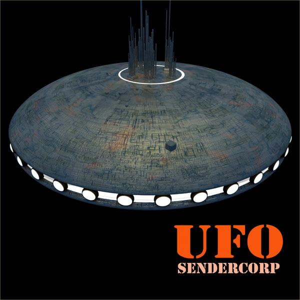 ufo sendercorp 3d obj