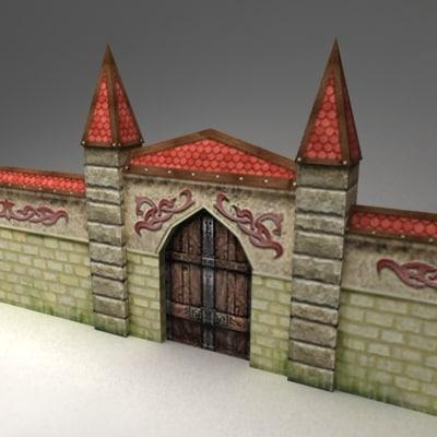 3d gates wall model