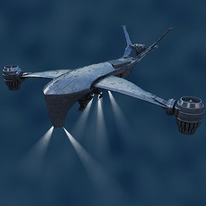 hunter killer aerial t 3d model