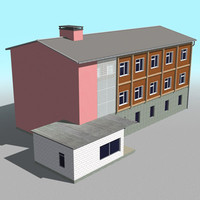 house building office 3d model