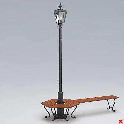 3d model street lamp