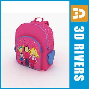 3d model kids bag