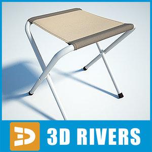 3d model camping chair folding