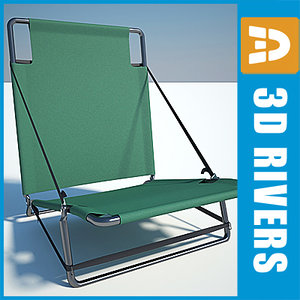 3ds max camping chair folding