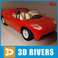 Tesla roadster v1 by 3DRivers