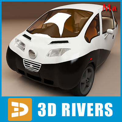 3dsmax green vehicle car triac