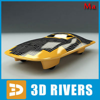 race solar car ned 3d model