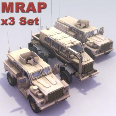 cougar mrap sets 3d model