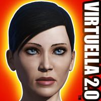 Woman virtuella 2.0 unrigged basemesh