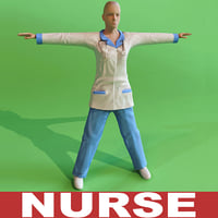 nurse modelled 3d model