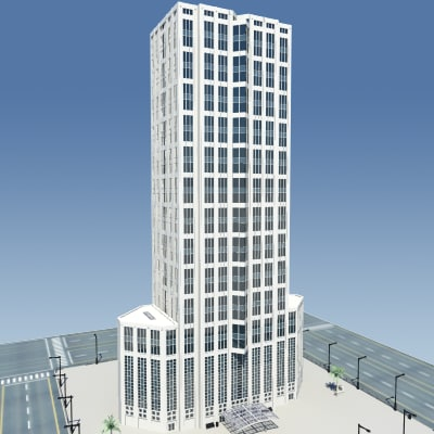 building city 3d dxf