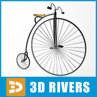 Penny-farthing bicycle by 3DRivers