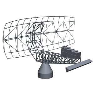 navy sps-49 radar 3d model