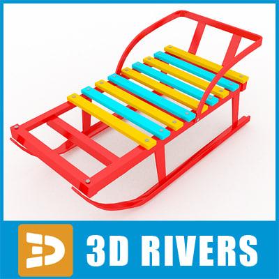 3ds sled supermarket toys