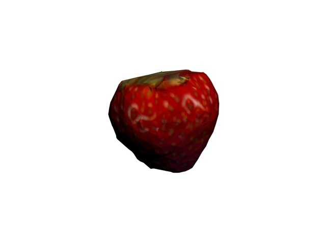 3d strawberry fraise model