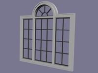 3d window set model