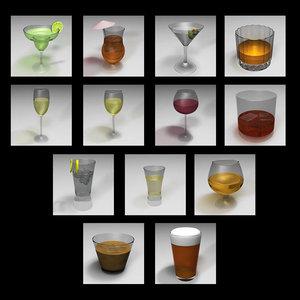 alcoholic beverages margarita 3d c4d