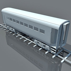 3d model train passenger car