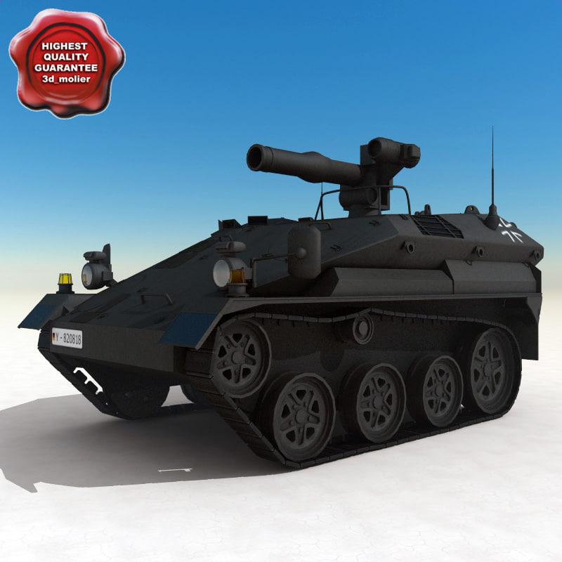 3d model of wiesel weapons fighting vehicle