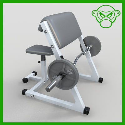 arm curl bench 3d model