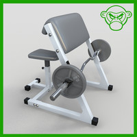 arm curl bench 3d model