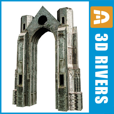 3ds max arch ruined building