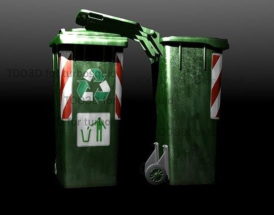 bin recycle 3d max
