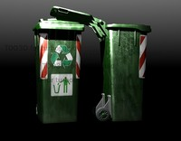 bin recycle 3d max
