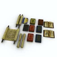 3ds max books scrolls