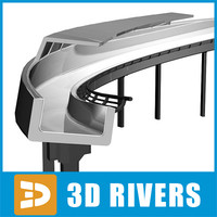 bobsleigh track 3d model