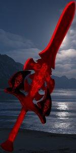 mysterious sword 3d model