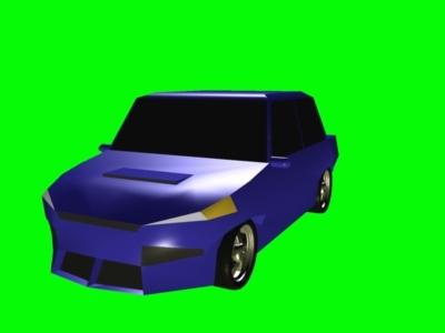 blue sedan sports car 3ds free