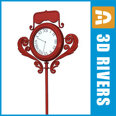 3ds street clock