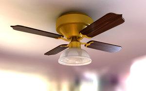 ceiling fan 3d 3ds
