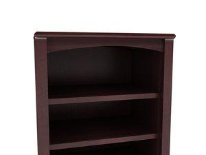 3d cherry hill open bookcase