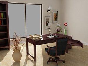 3d model cherry hill den room table