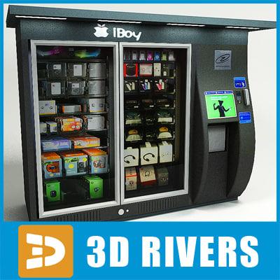 gadget vending machine 3d model
