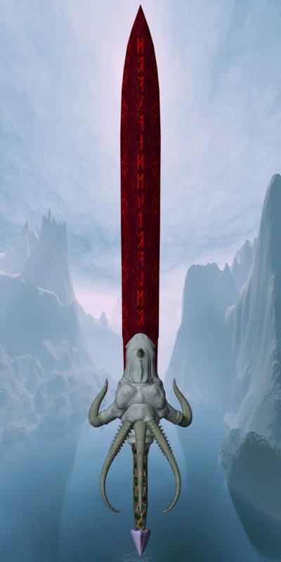3d sword dragon model