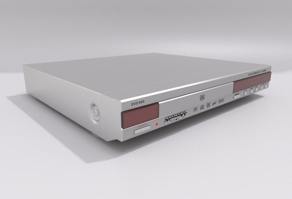 dvd player - compacks 3d model