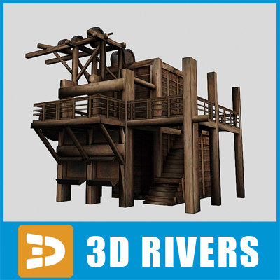 ready elevator mines 3d 3ds