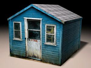 3d realistic shack